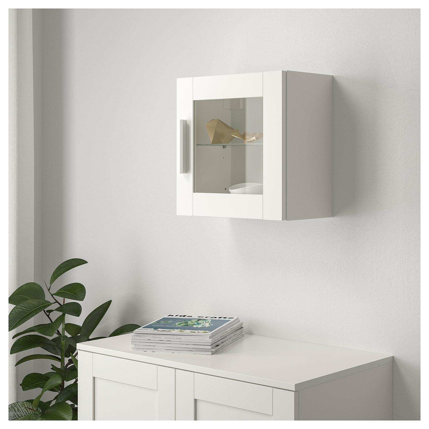 шкаф навесной бримнэс белый черный орск