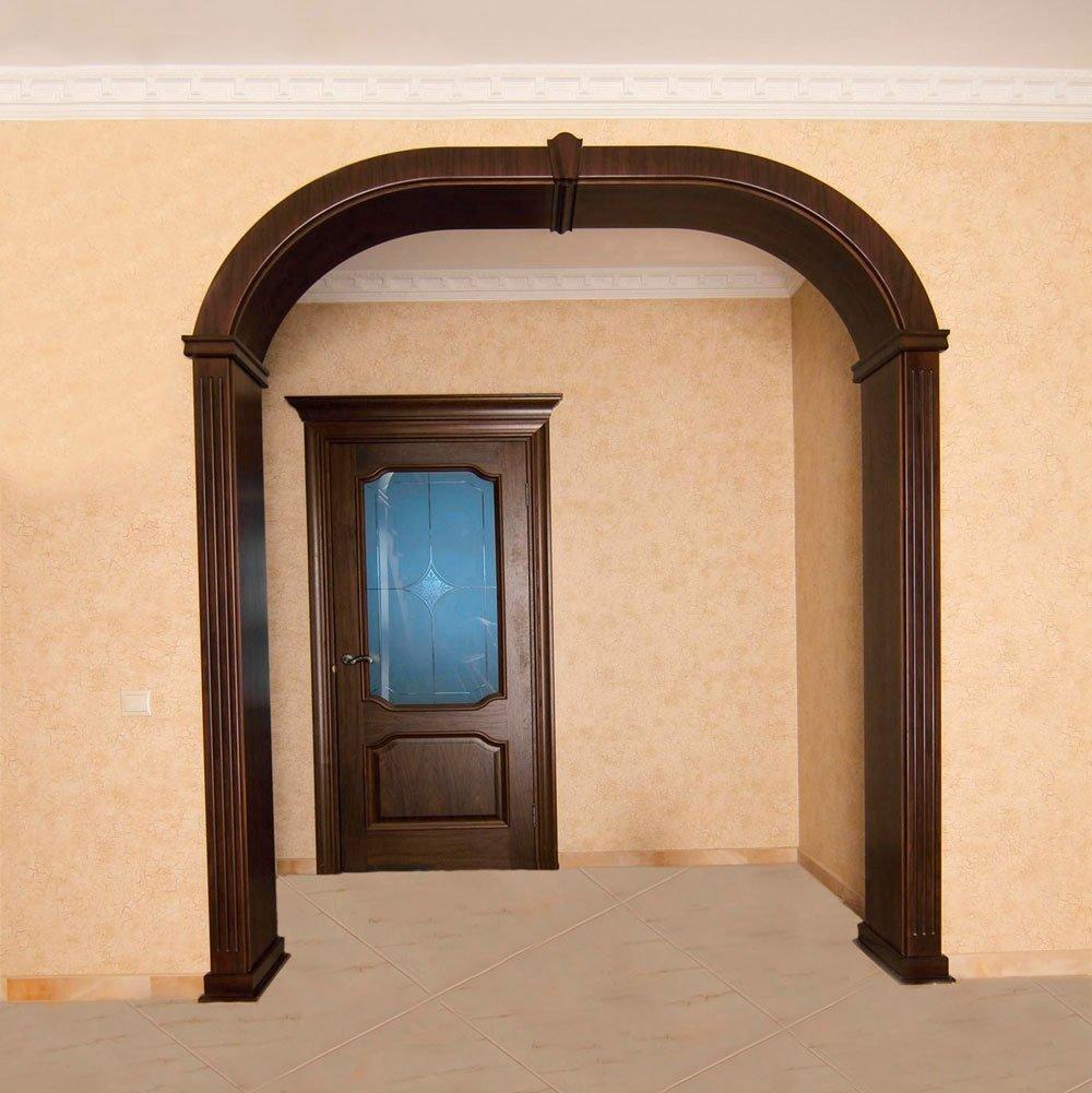 фототюль готовые деревянные арки в дверной проем фото есть слабый