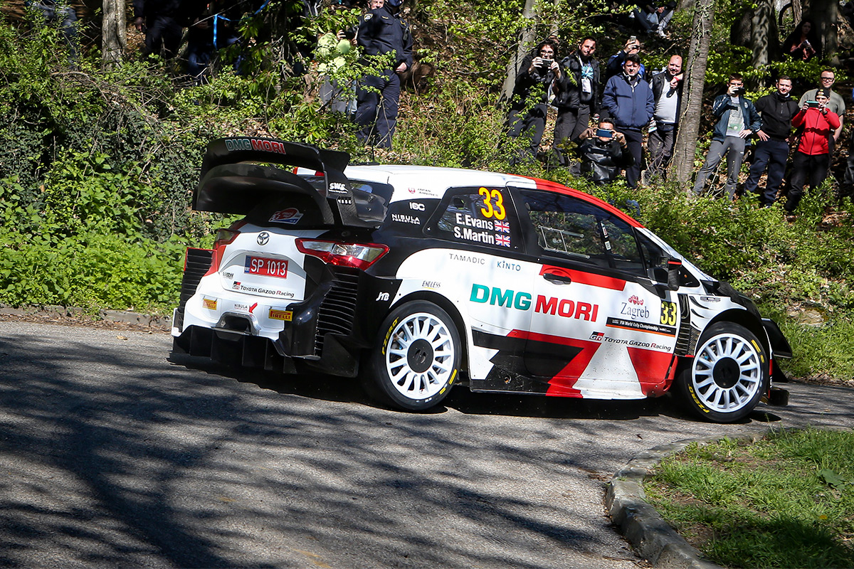 Элфин Эванс и Скотт Мартин, Toyota Yaris WRC, ралли Хорватия 2021