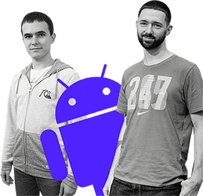Дима Горбунов, (Слева) Тимлид Android-команды MobileUp, Василий Чирвон, (Справа) Ведущий Android-разработчик MobileUp