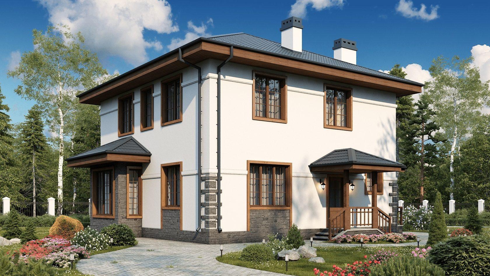 проекты домов из пенобетонных блоков