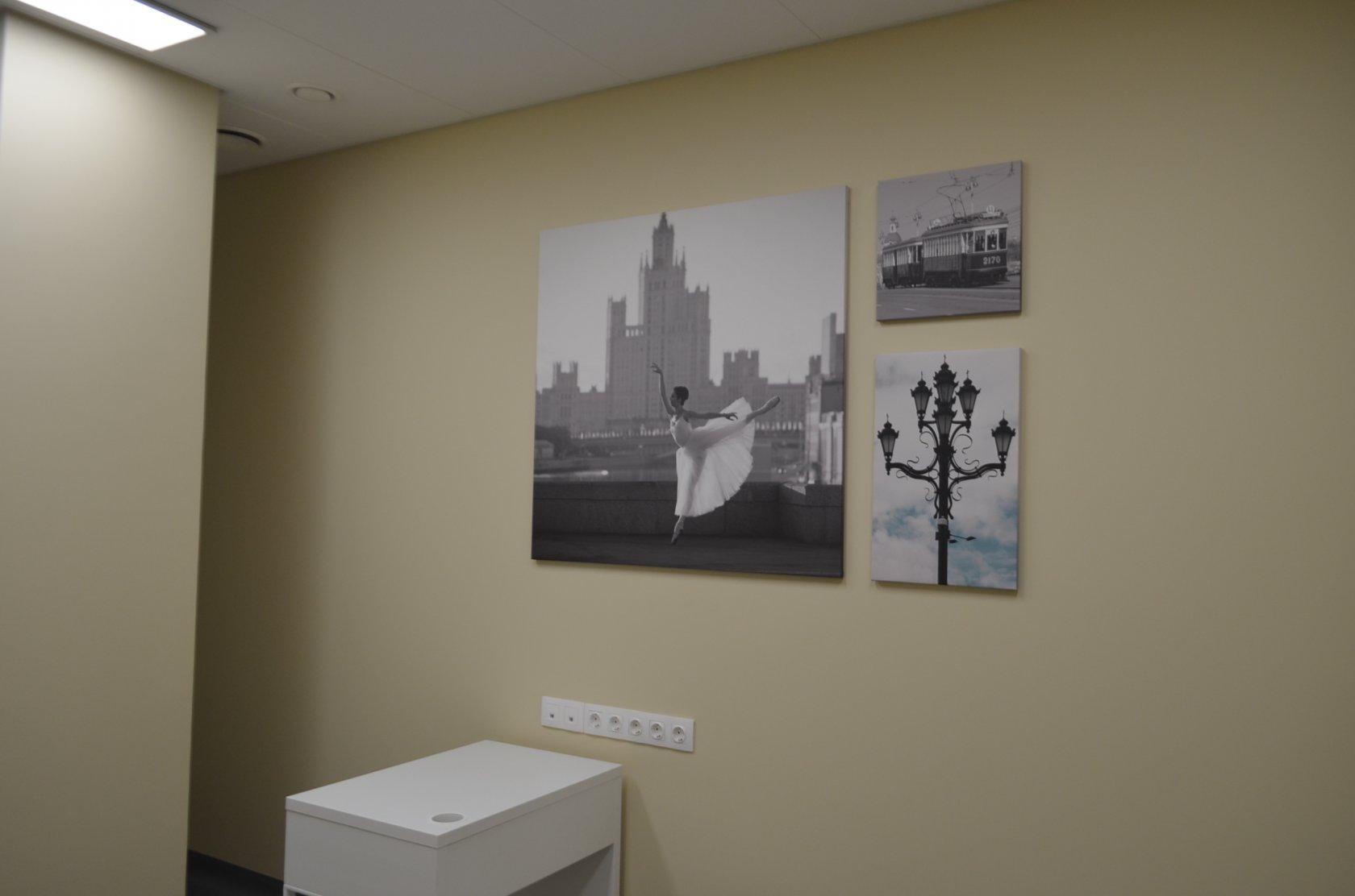 может оформление кабинета постерами работников поликлиниках, врачебных