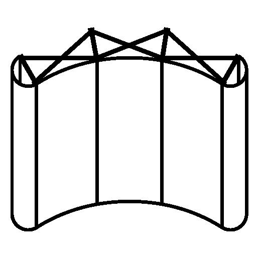 Решетка Поп Ап (Pop Up) вогнутая
