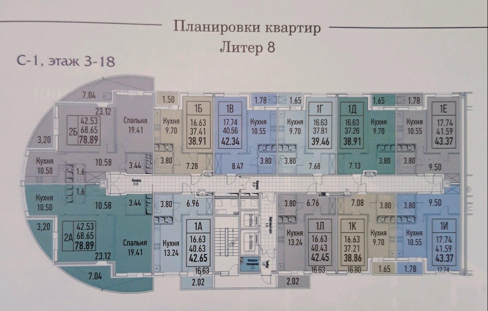 планировки квартир Жилой комплекс Империал в Краснодаре