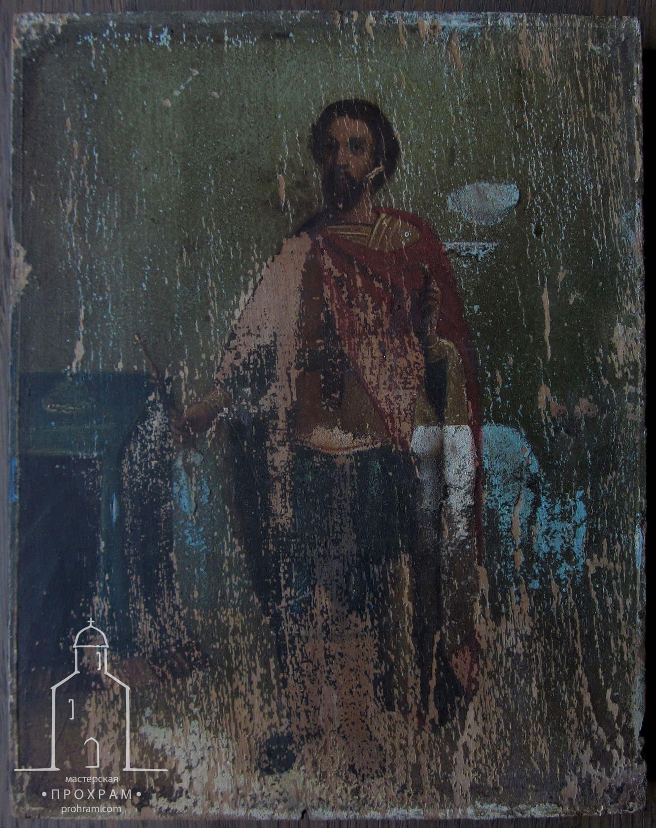Реставрация, Св. Александр Невский, реставрация икон, реставрация икон этапы, реставрация иконы фото до и после