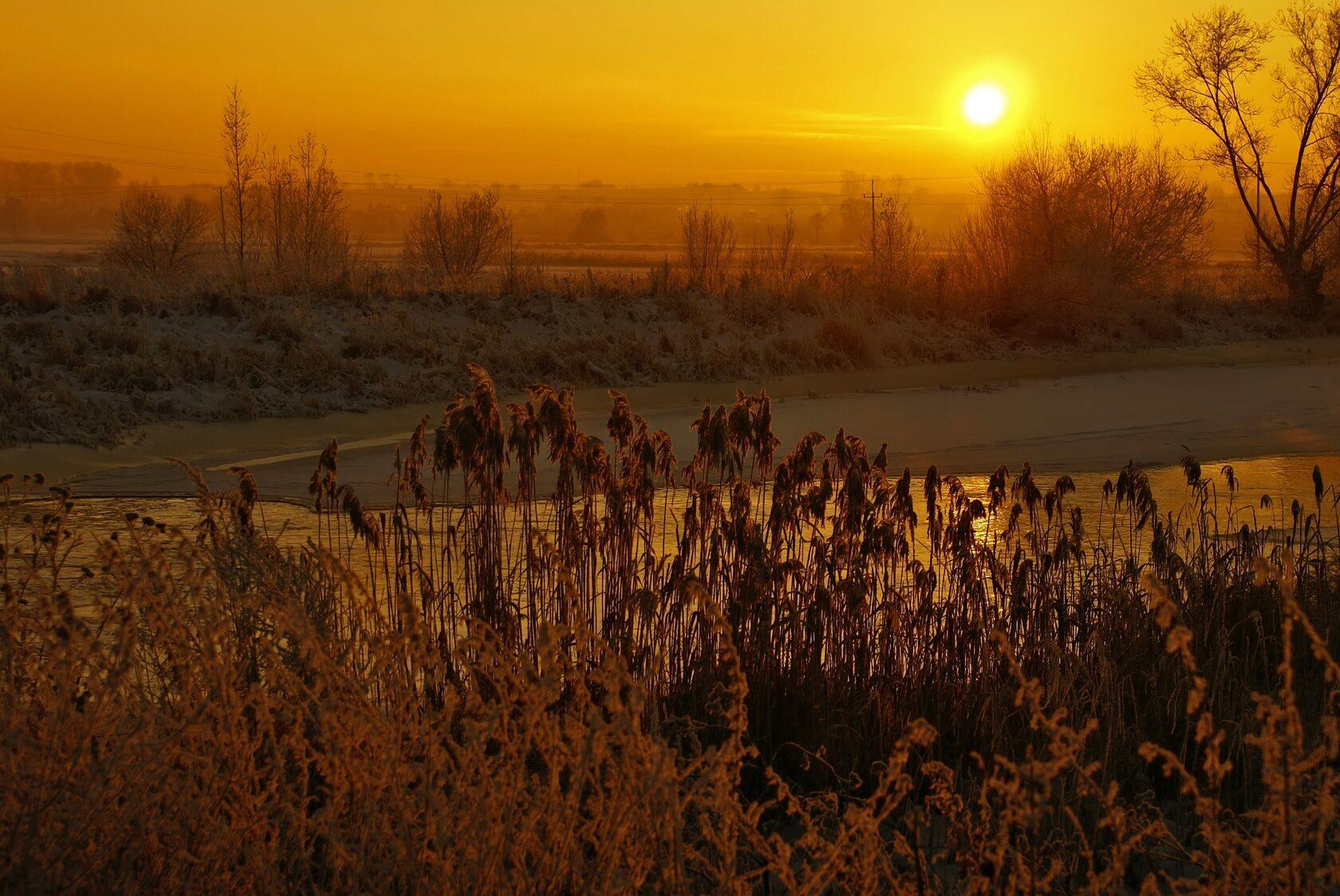 Потрясающий снимок, сделанный на закате солнца
