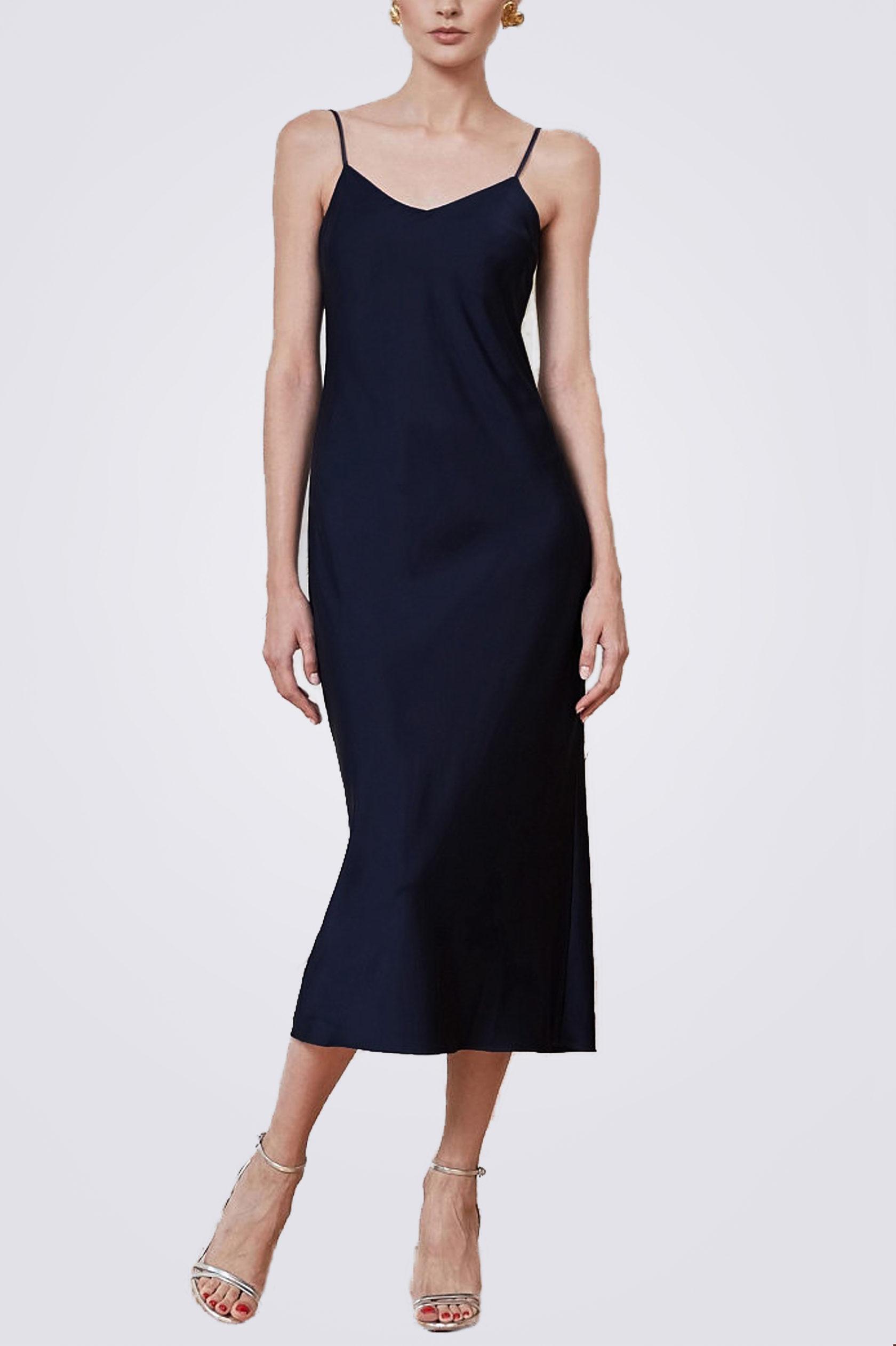Платье комбинация миди ES.design темно-синее EGOStyle