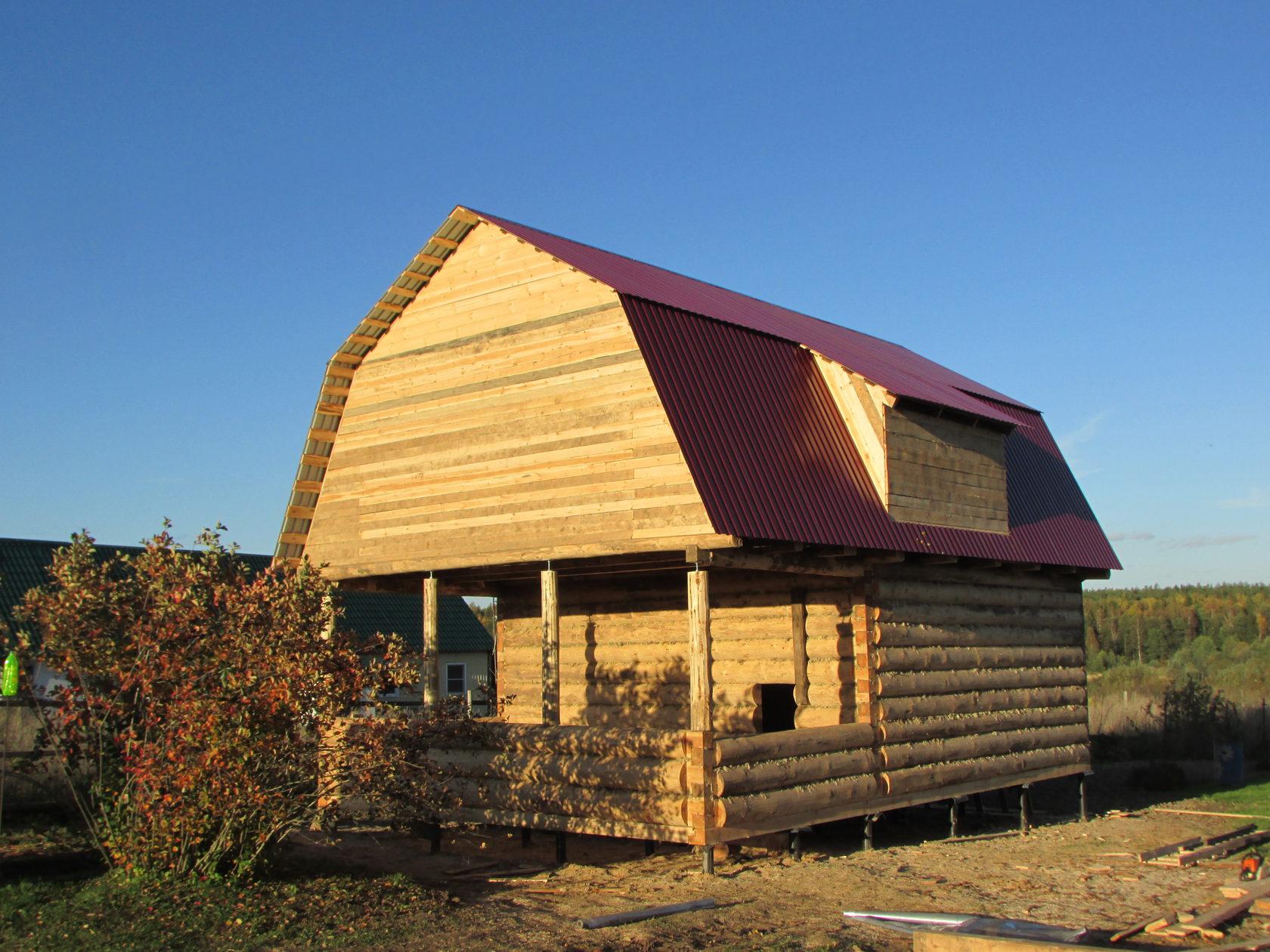 дом из сруба с ломаной крышей фото выставку выдающегося французского