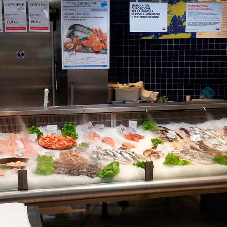 Увлажнение рыбных столов
