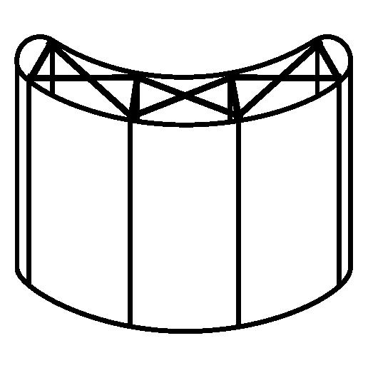 Решетка Поп Ап (Pop Up) двусторонняя