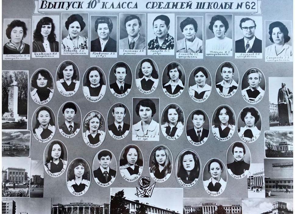 10  КЛАСС 1979 г.  Кл. рук. Роговая Г.А.