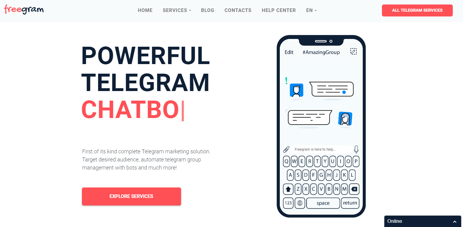 Telegram Chatbots | Freegram io