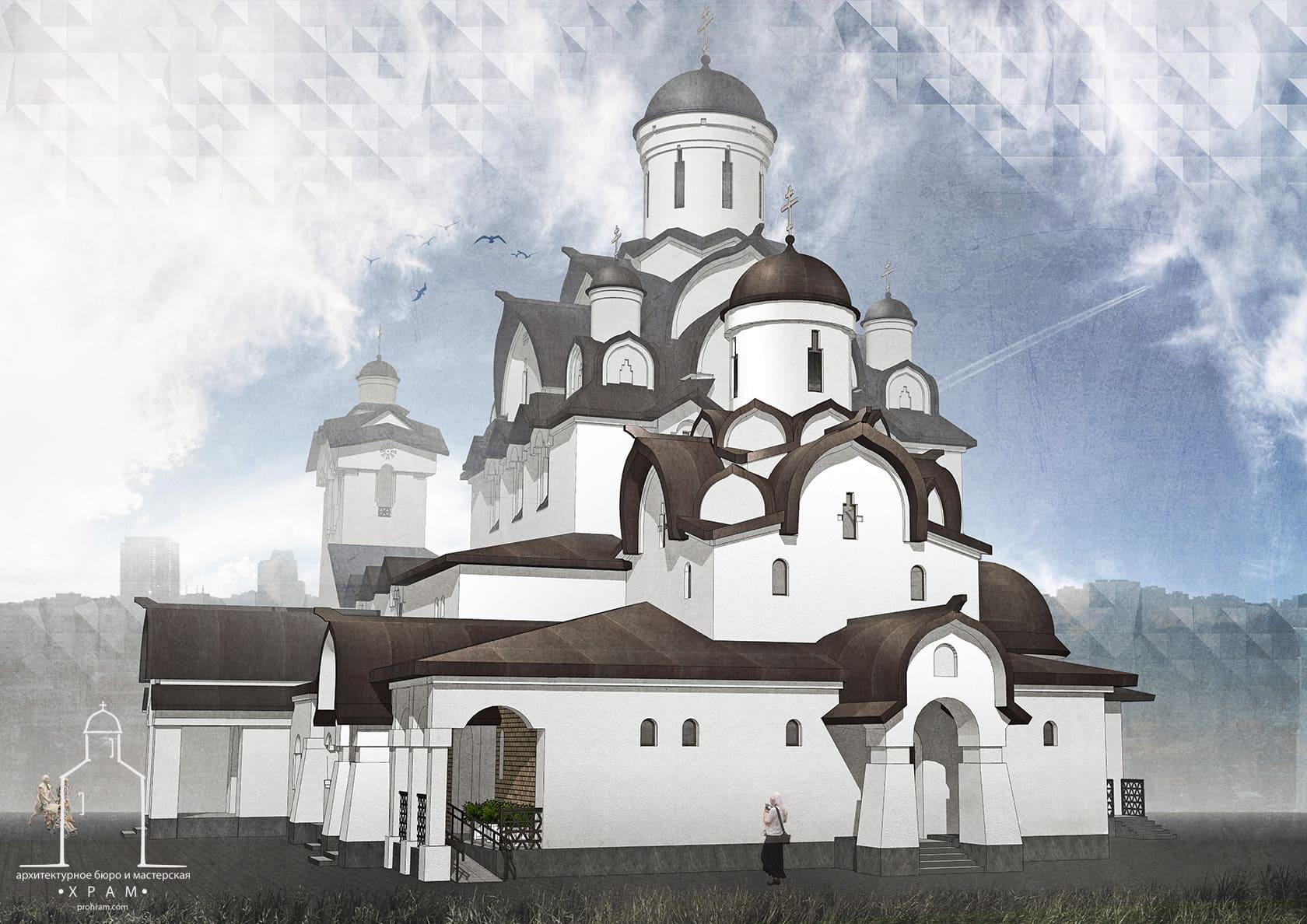 православный храм проект, архитектурное бюро мастерская, проект православного храма, каменный храм