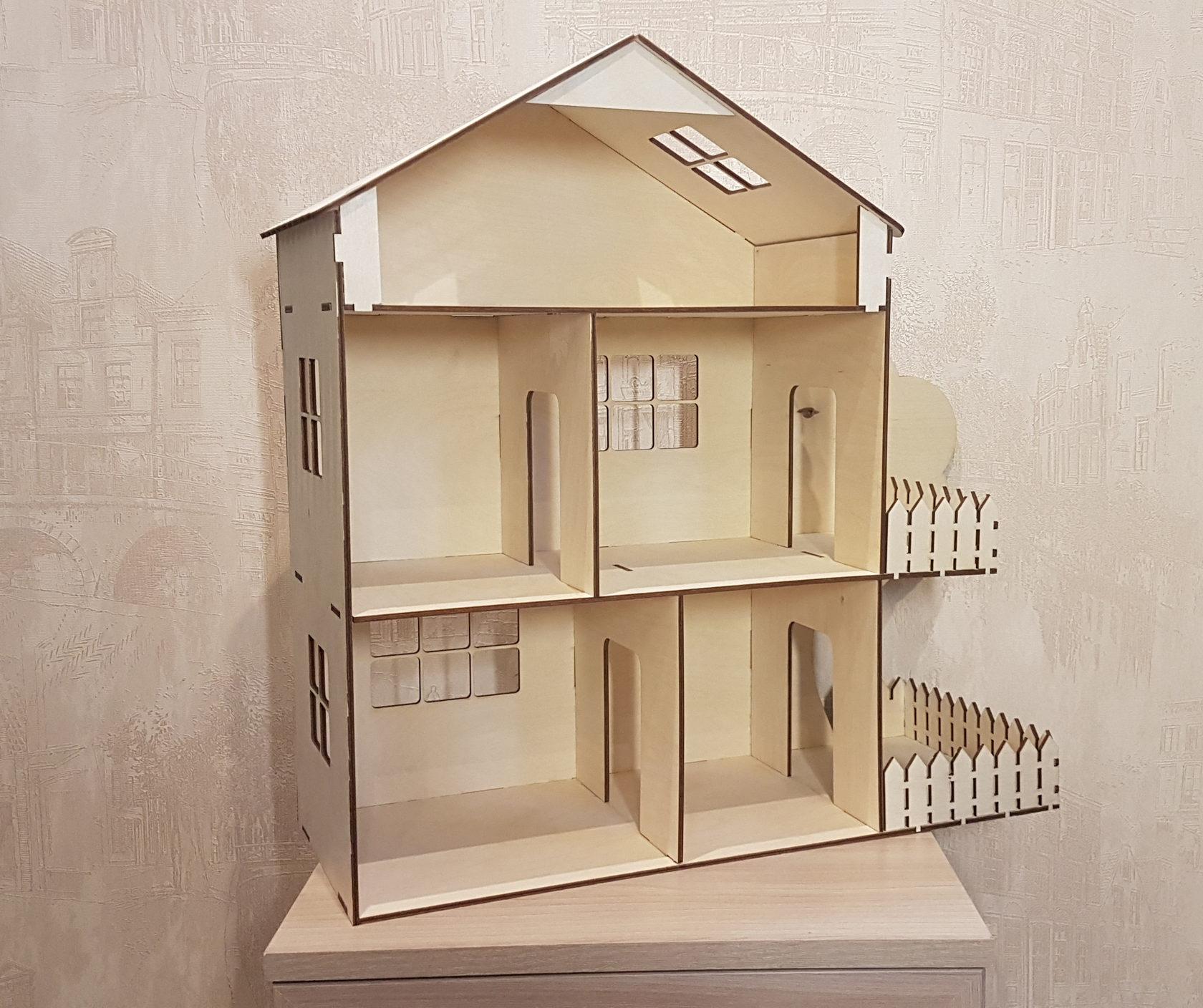 Кукольный домик из фанеры фотоотчет