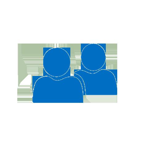 Люди, приложение Outlook со списками контактов