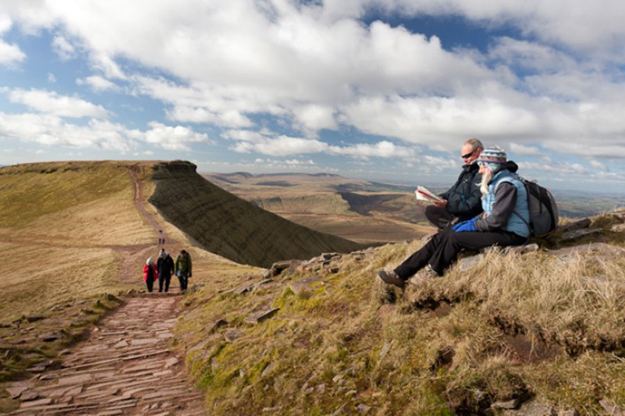 People walking in the Brecon Beacons