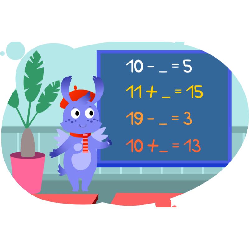 Вомик показывает как решать примеры на арифметические действия