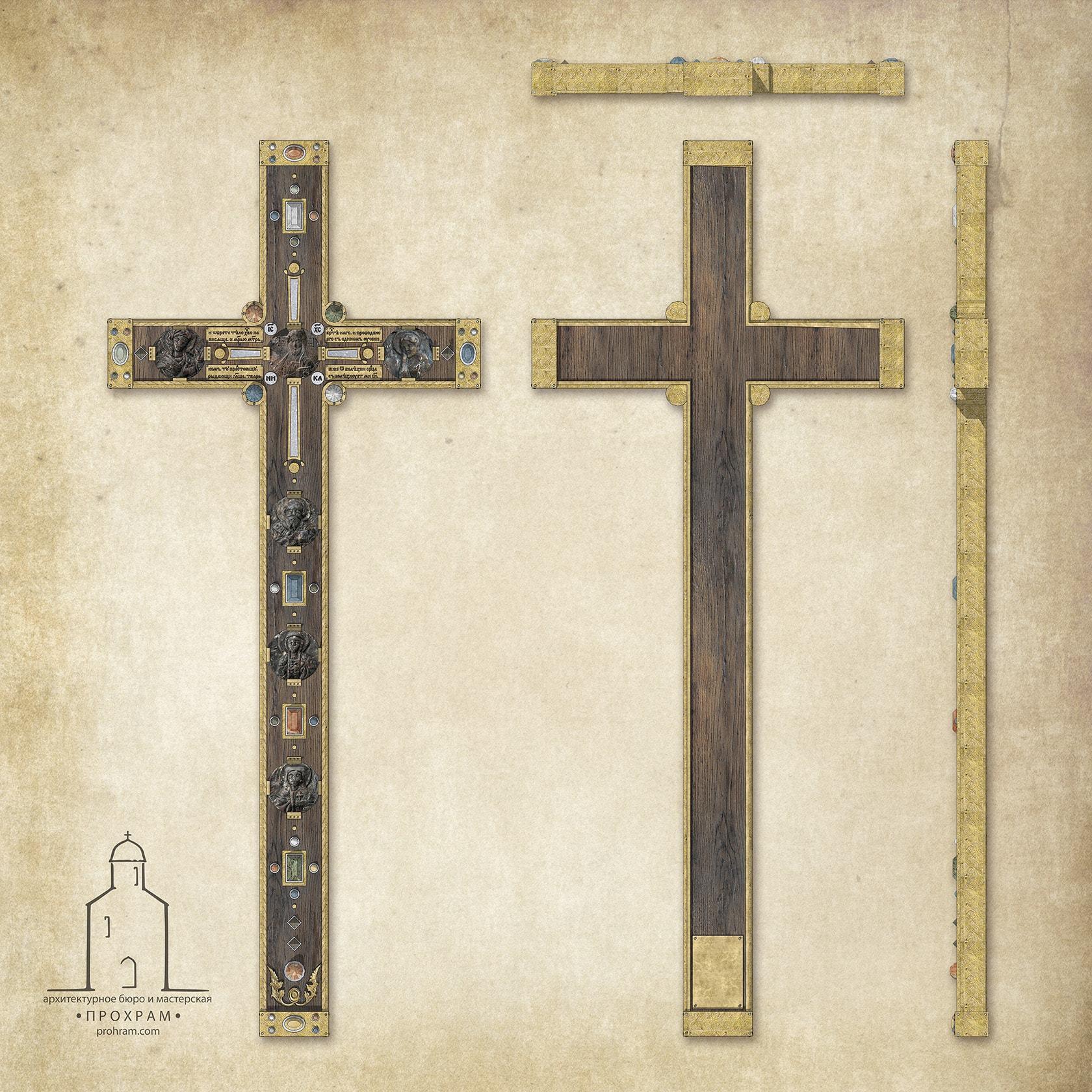 туровский крест, конкурсный проект, проект выносного креста