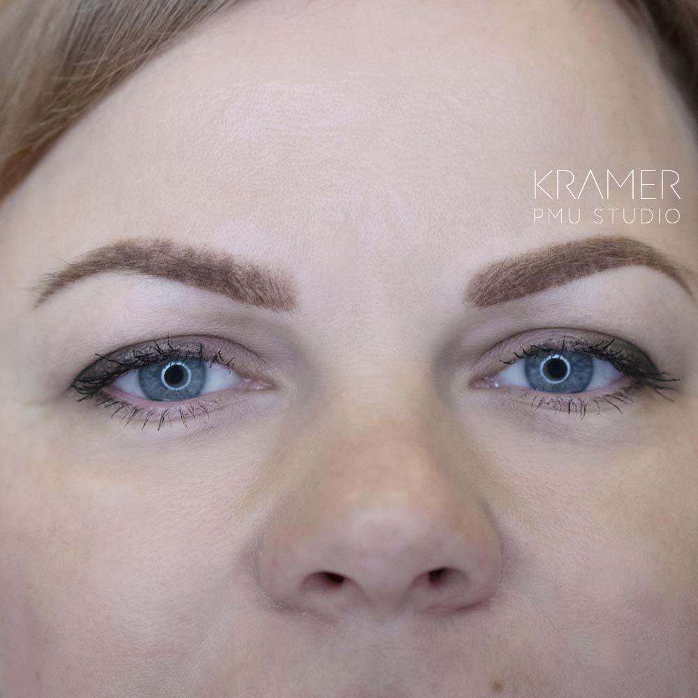 Корочки после процедуры перманентного макияжа бровей ❤️ KRAMER PMU STUDIO