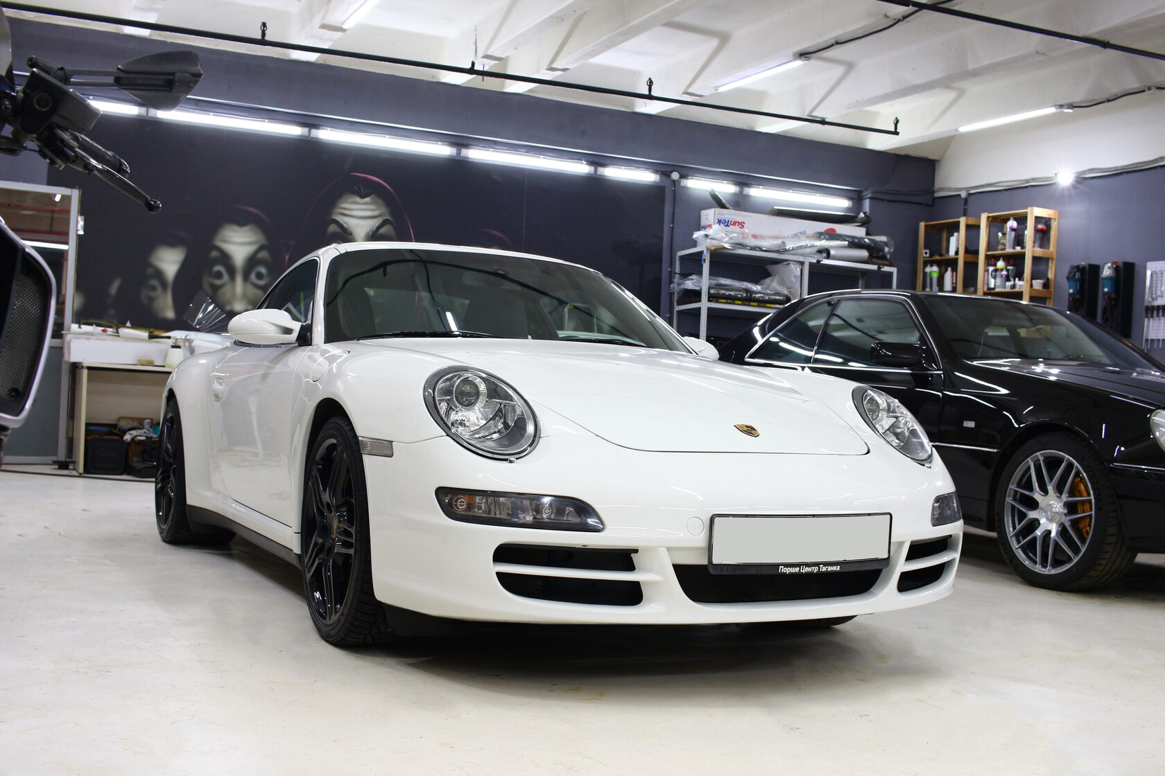 Porsche 911 Carrera 4S, детейлинг, реставрация, покраска кожи, полирвока фар, детейлинг центр москва