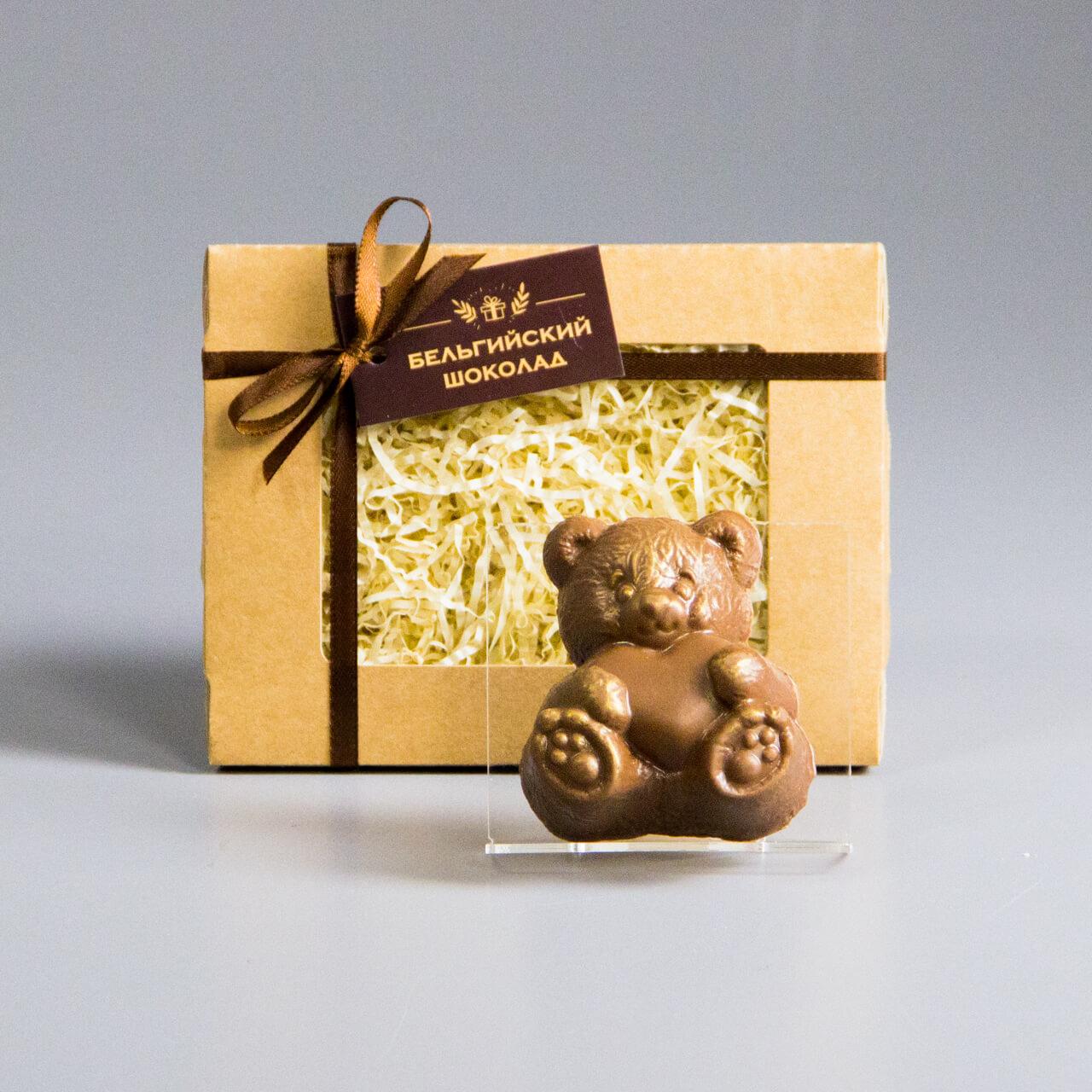 Шоколадная фигурка «Мишка с сердцем»