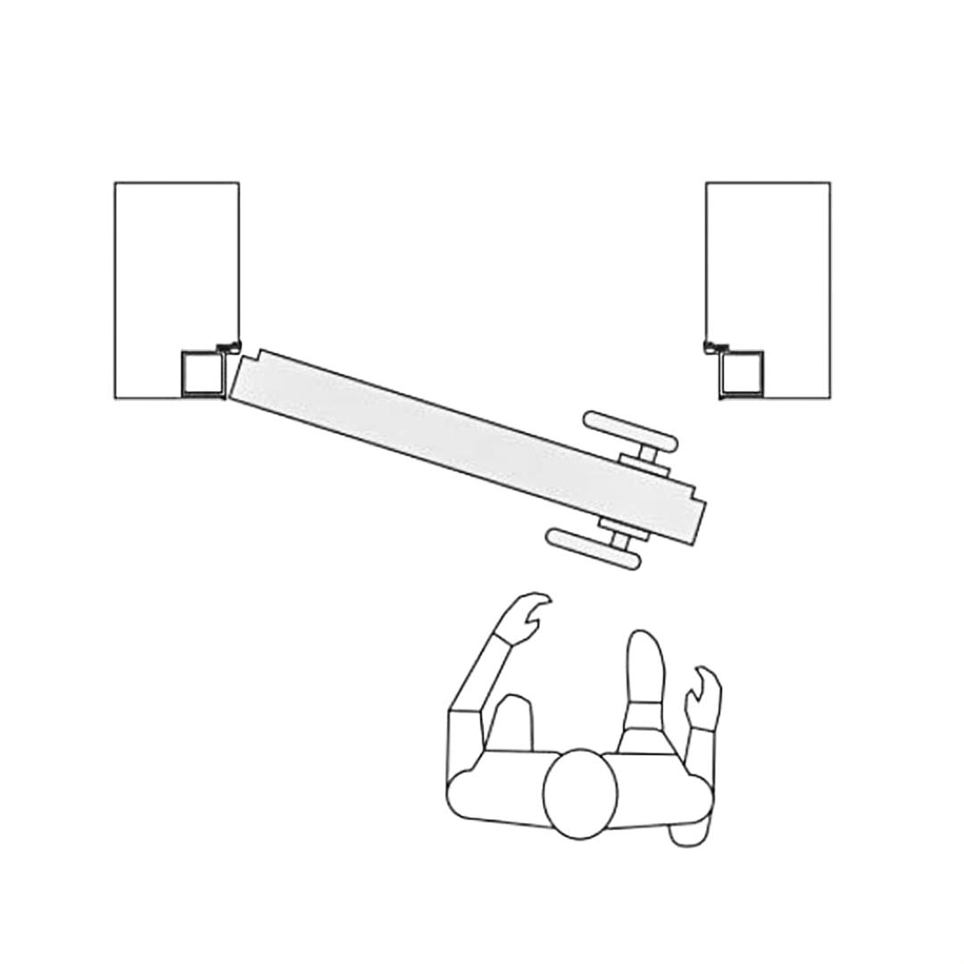 Левое отрывание. Наружное скрытой двери
