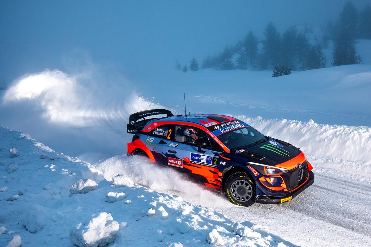 Оливер Сольберг и Себастьян Маршалл, Hyundai i20 Coupe WRC, Arctic Rally Finland 2021