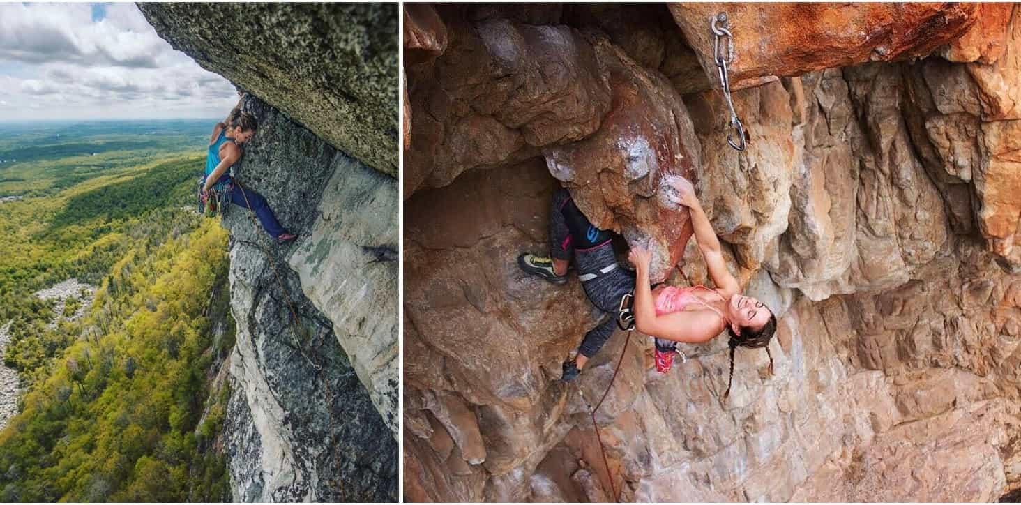 Лазаем трудность на скалах
