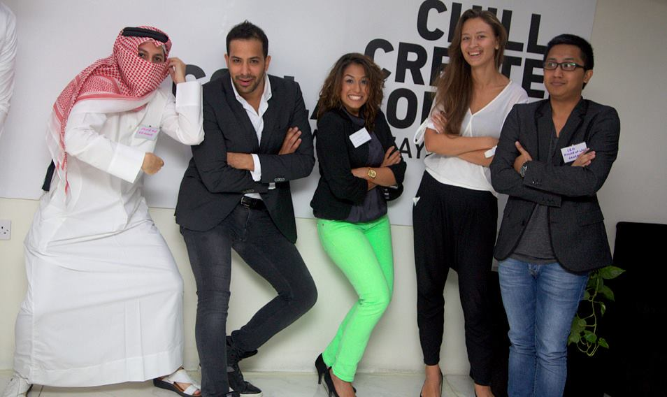 Young management team and partners of start-up co-working space in Doha, Qatar