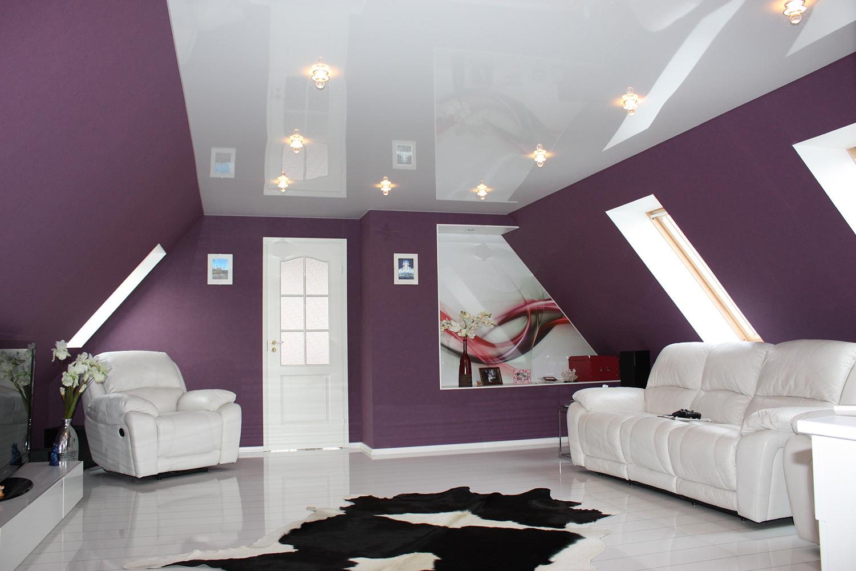 Почему глянцевый натяжной потолок является таким популярным – основные достоинства