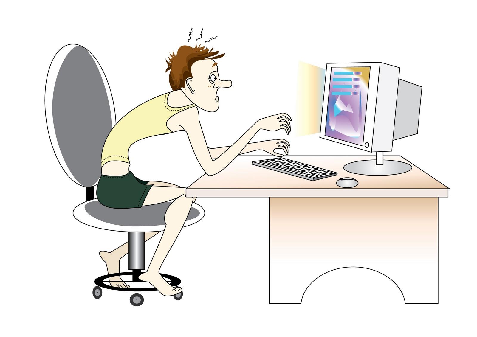сидение за компьютером картинки включает только бластеры