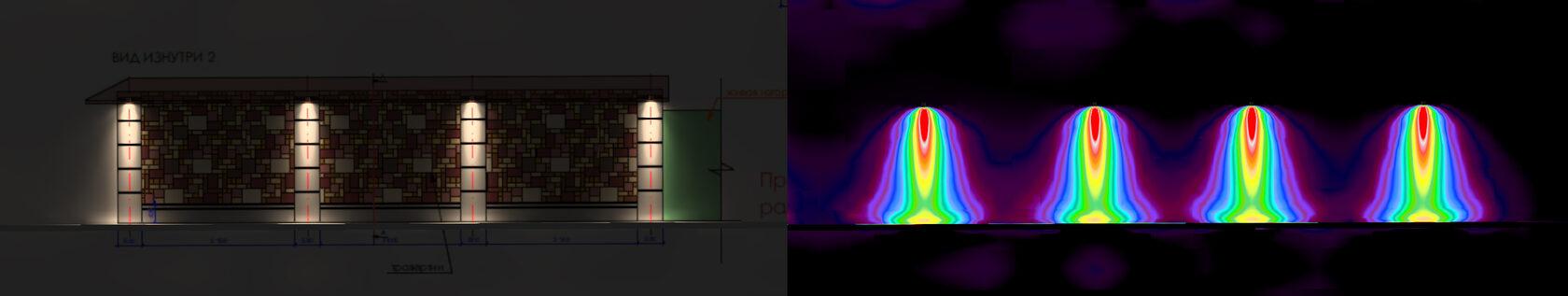 Расчет освещения для ограды