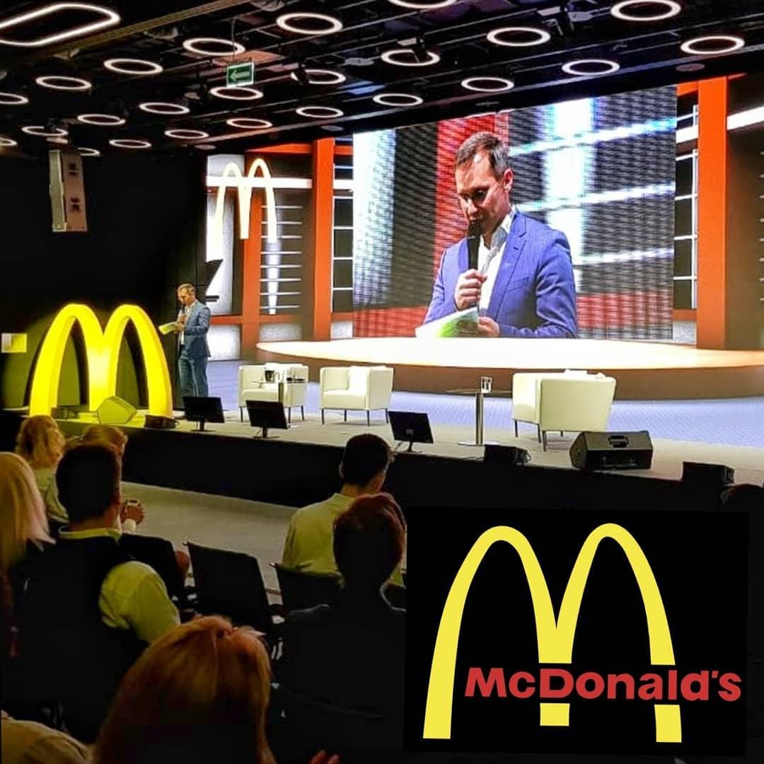 Видеотрансляция выступлений Президента корпорации McDonald's