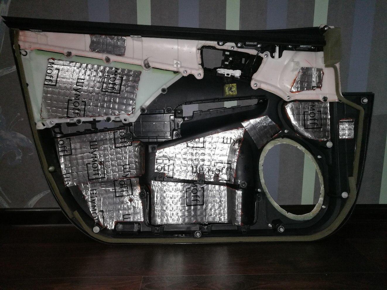 обшивка дверей шумоизоляция camry