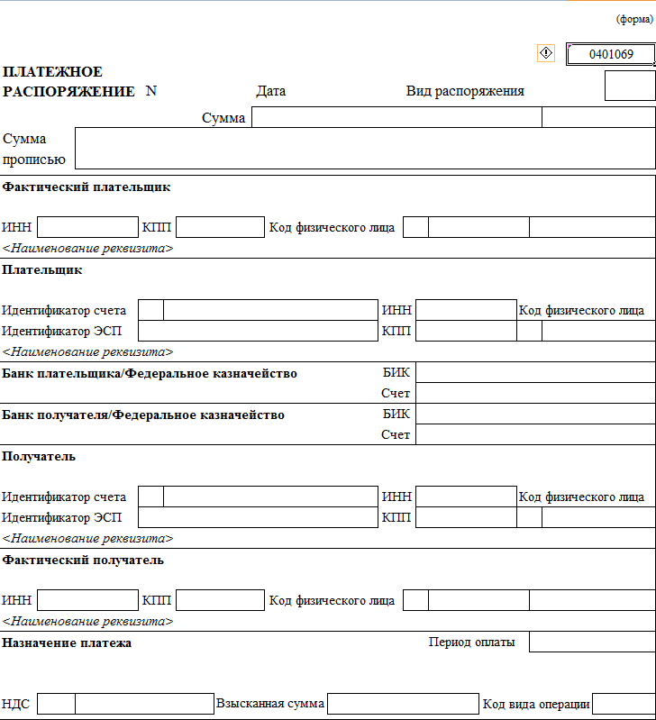 Платежное распоряжение