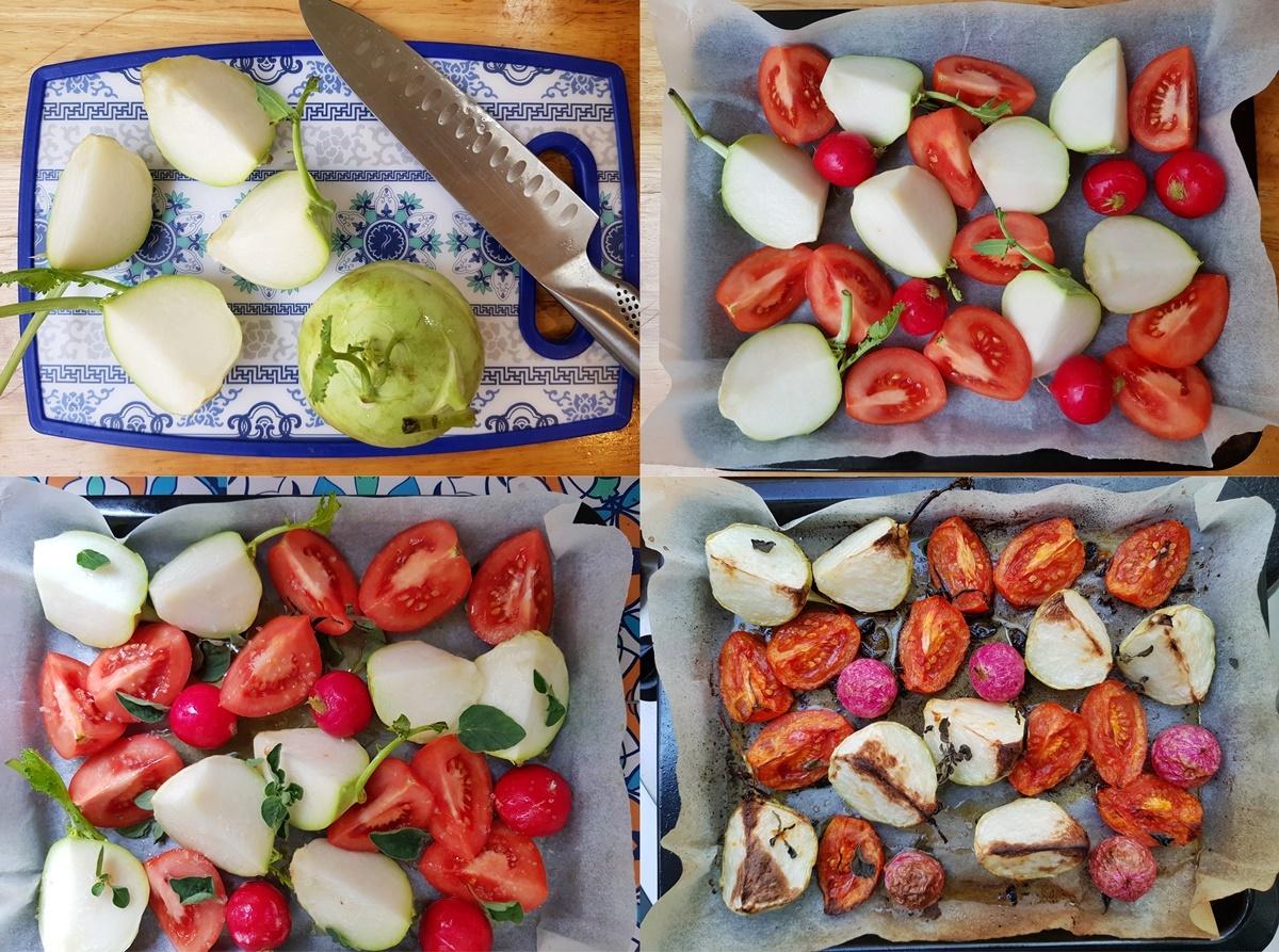 Кольраби, помидоры и редис в духовке. Вкусный Израиль.