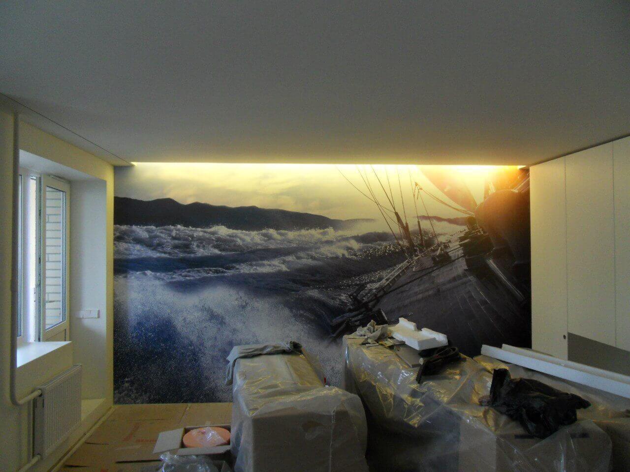 конечно, главным натяжные стены с потолками фото есть всего