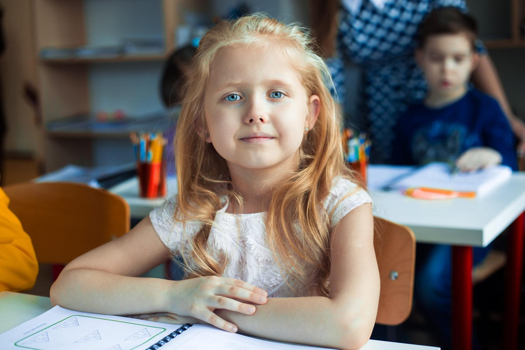 ученица курса развития для детей 7 лет
