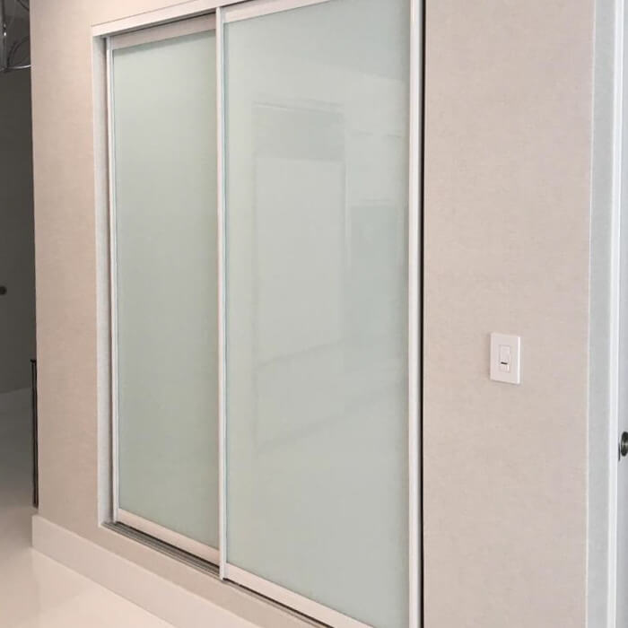 Sliding Closet Doors With White Trim