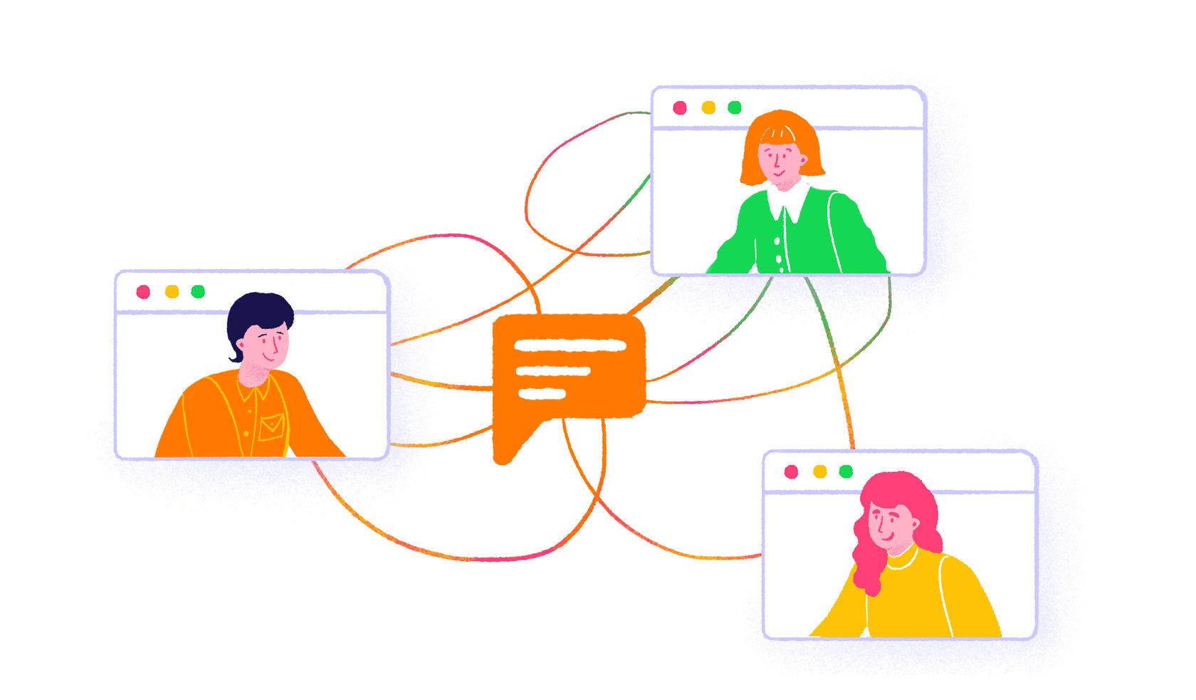 иллюстрация Организуйте онлайн-консультации и показы товаров