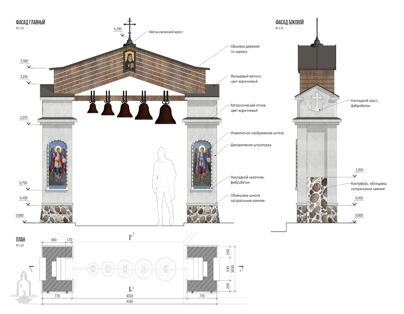 small architectural shapes, gates of the temple, gates of the temple project, sacred architecture, orthodox architecture project