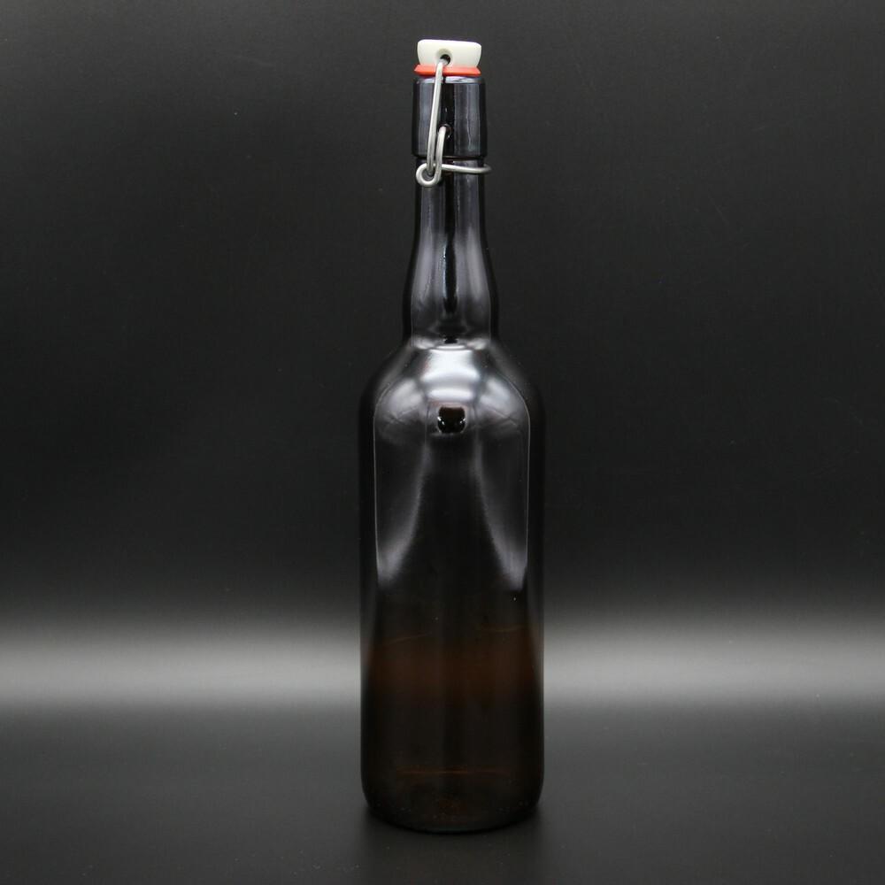 Использование пивных бутылок с бугельной пробкой
