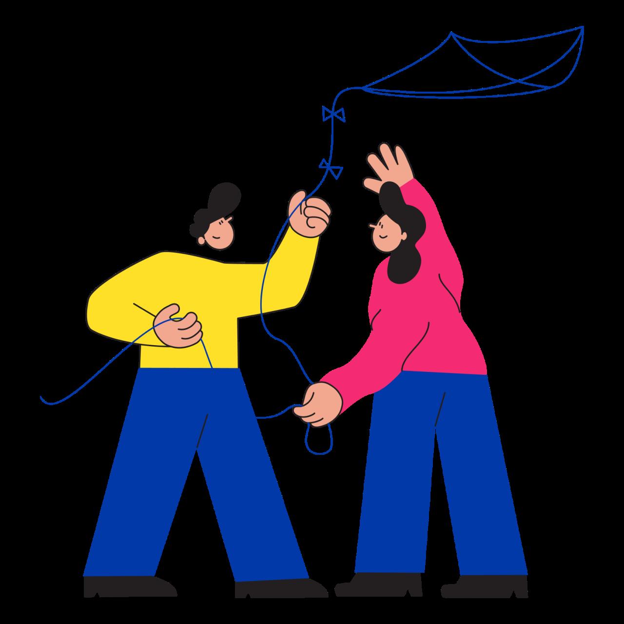 Обложка набора иллюстраций Teammy о командной работе и совместных проектах