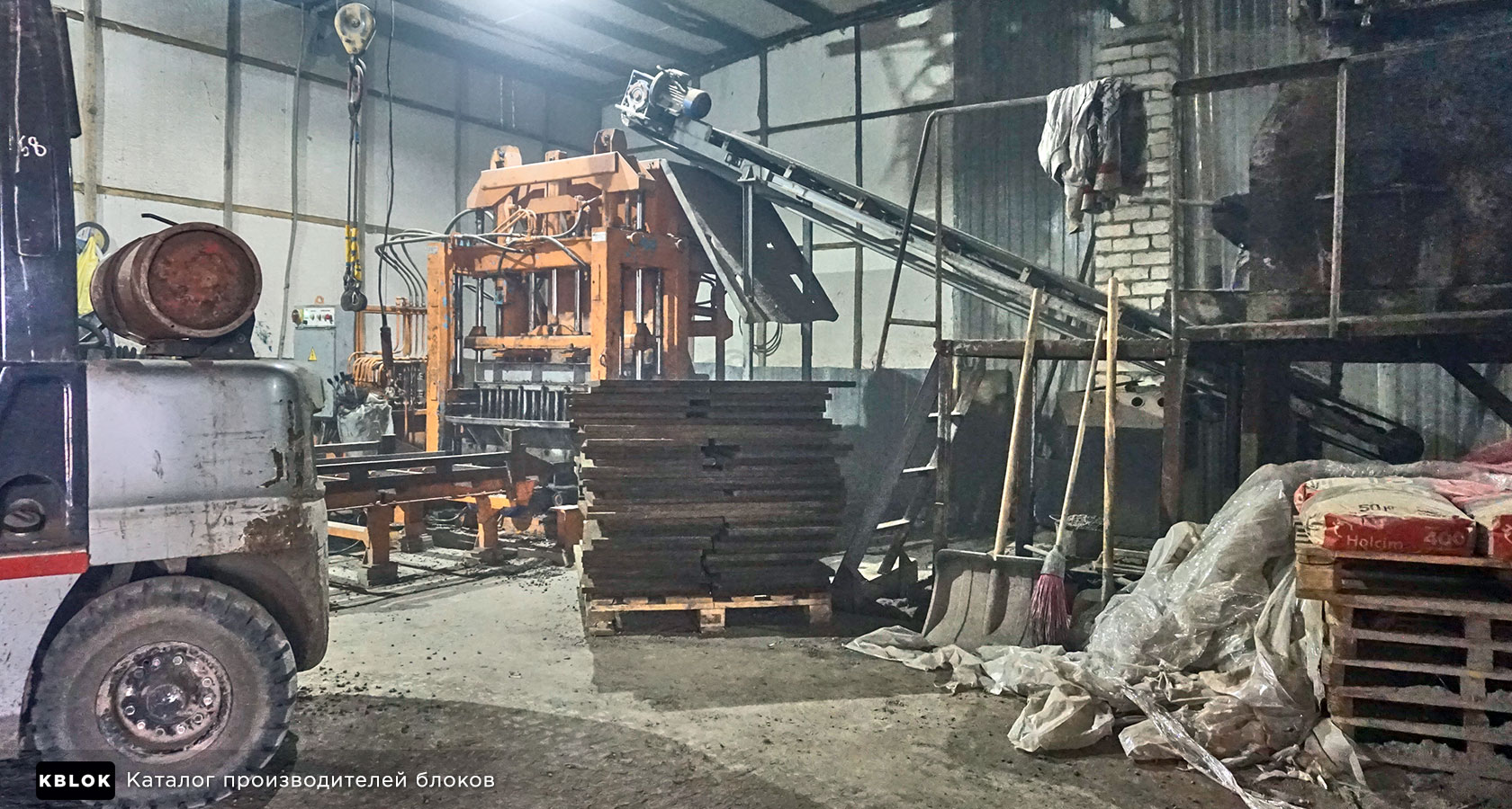 на производстве керамзитных блоков компании Велес