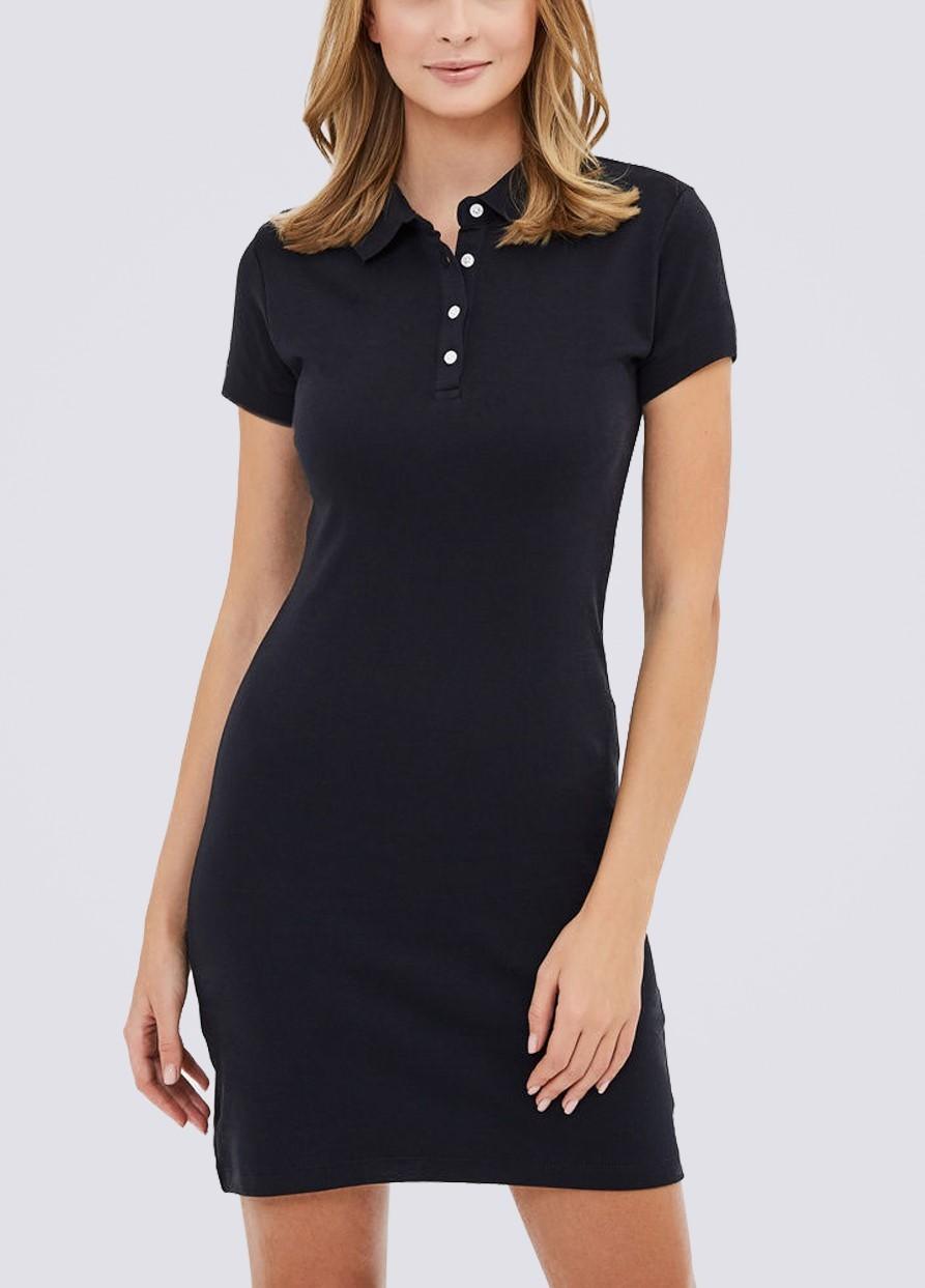 Платье поло ES.design черное EGOStyle