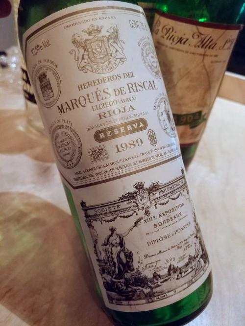 1989 Marqués de Riscal Rioja Reserva