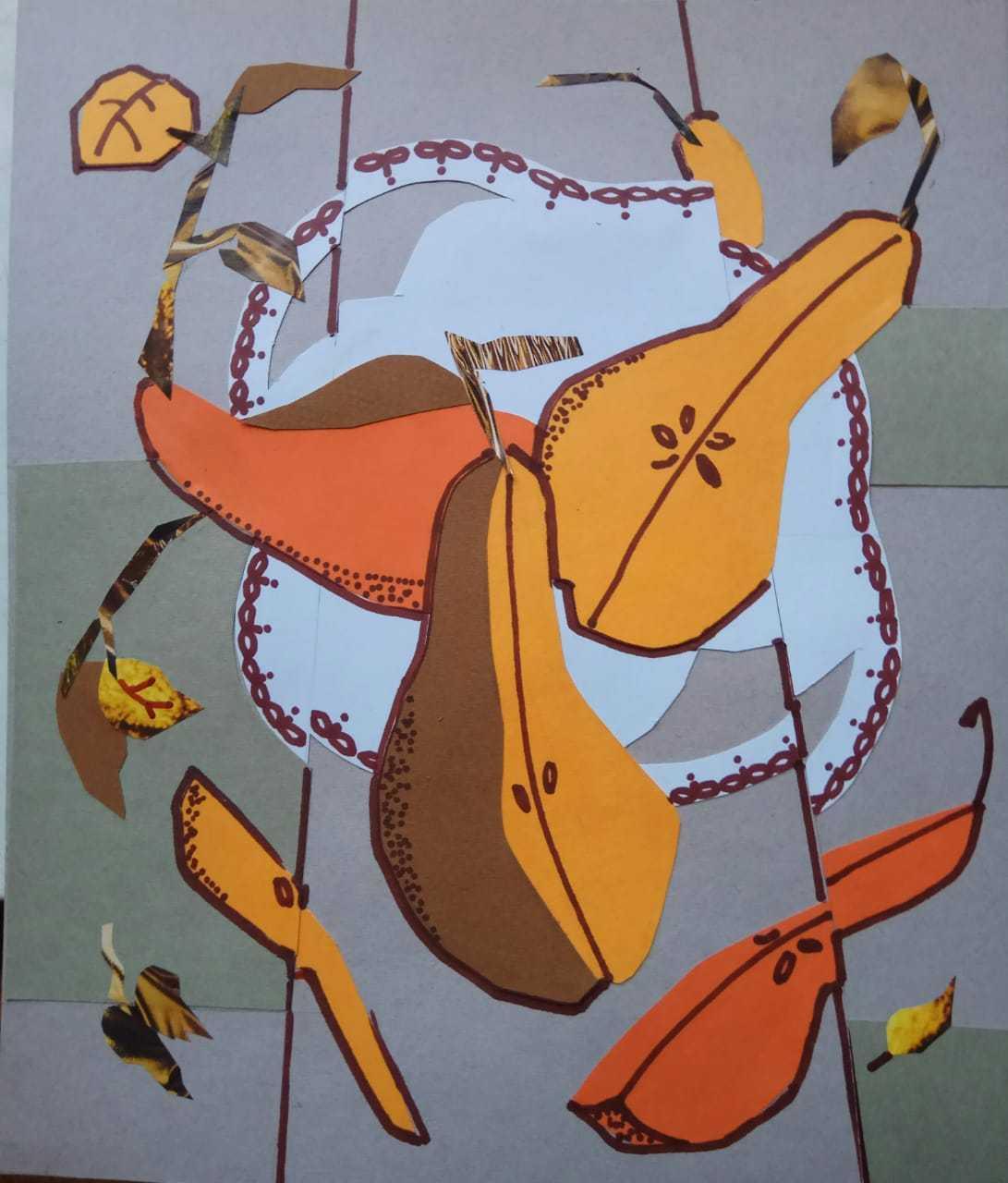 Дружкова Евгения / тема «Декоративный натюрморт» / коллаж