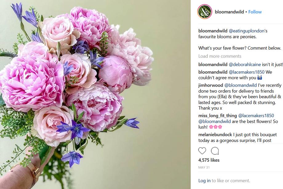 Views, likes, followers, flowers