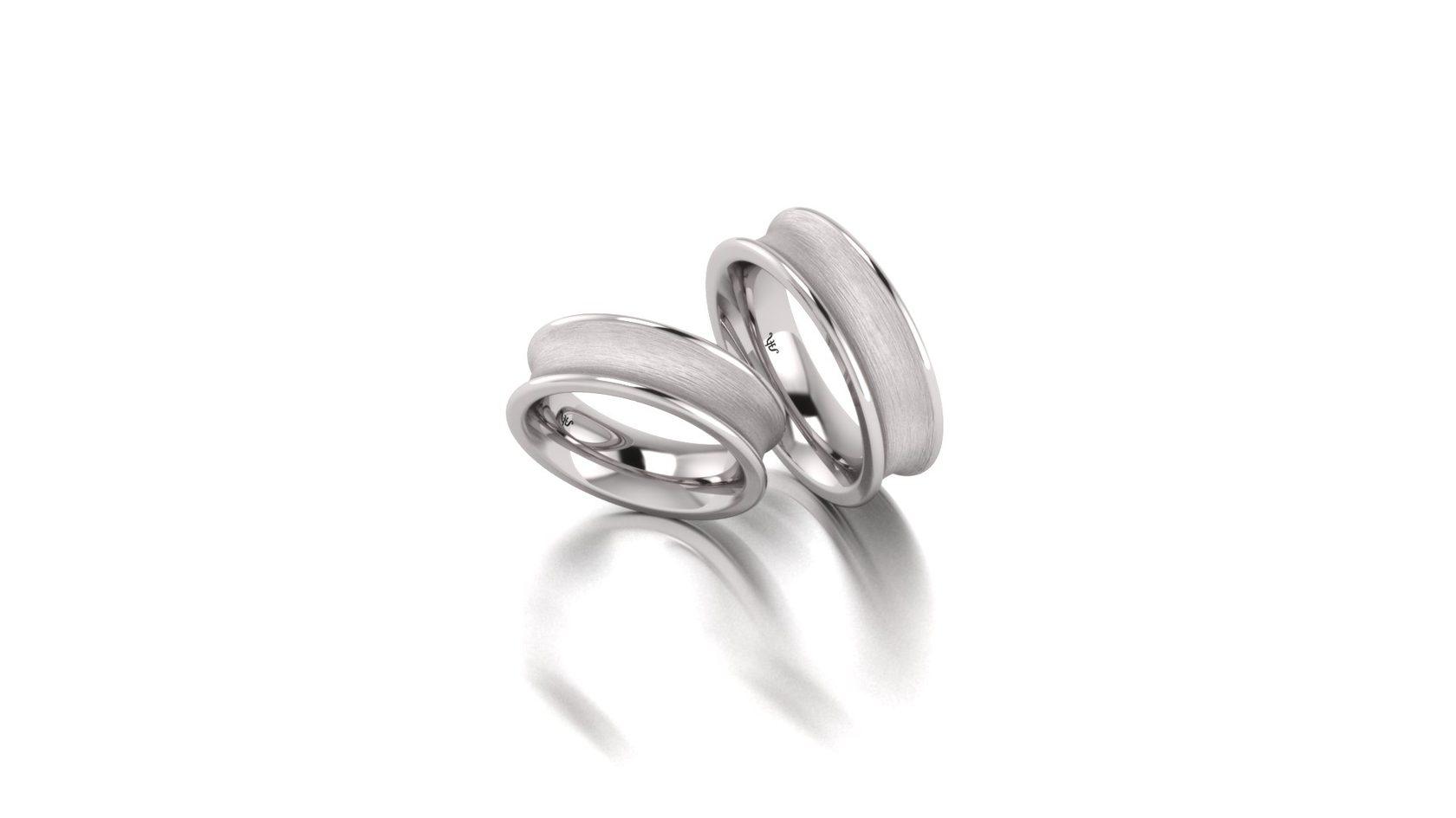 Обручальные кольца из гипоаллергенного стерлингового серебра