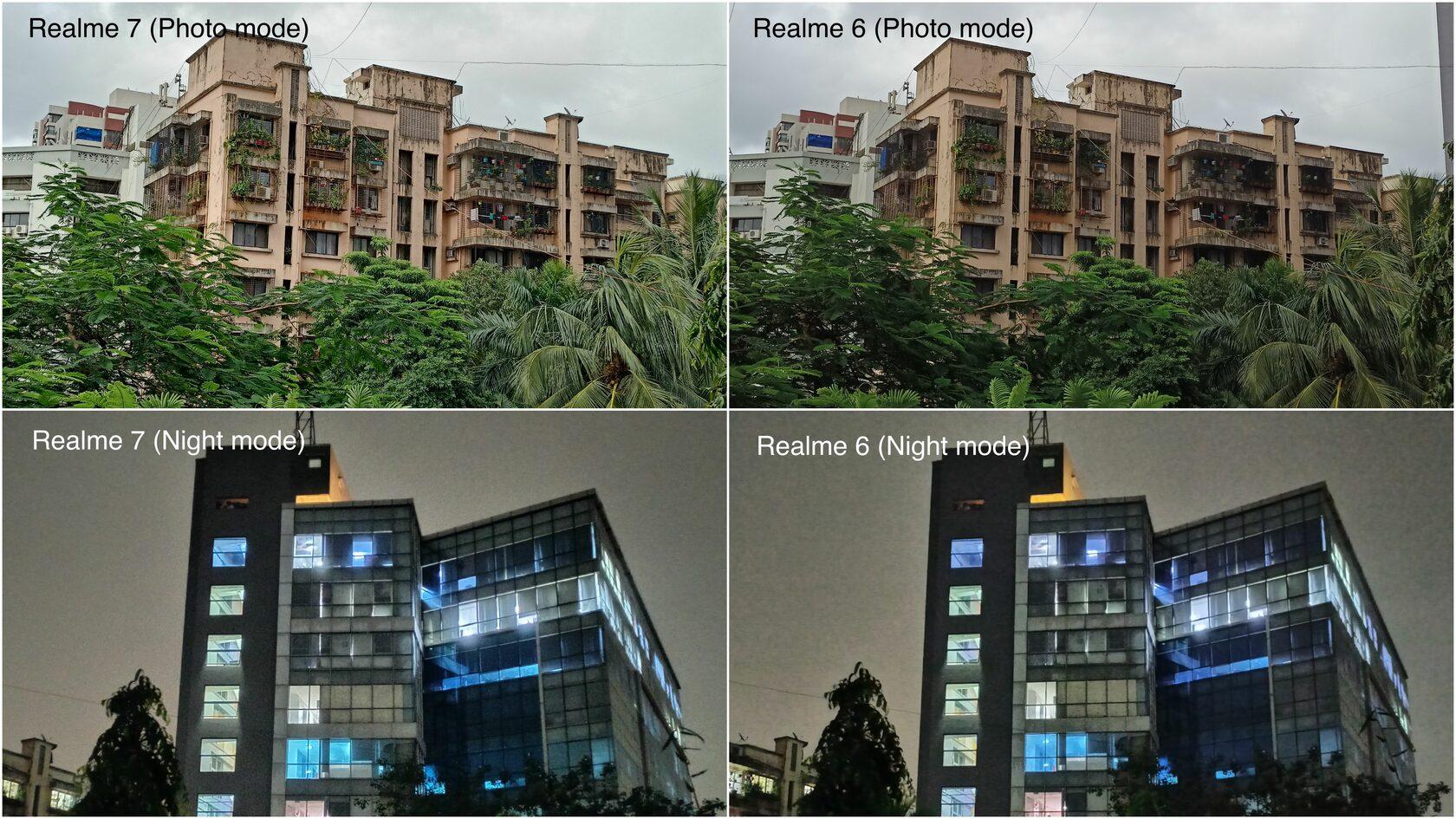 Сравнение снимков, сделанных на разные смартфоны, включая Realme 7